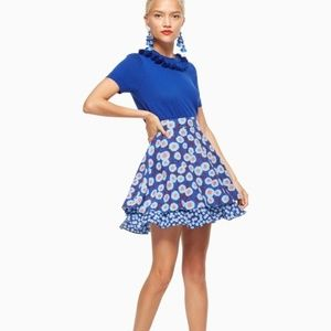 KATE SPADE Tangier Floral Double Layer Skirt {S46}